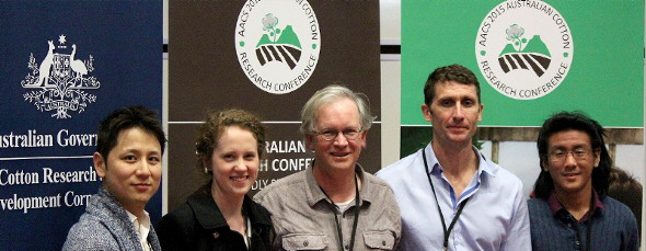 CWI team at the 2nd AACS 2015 Australian Cotton Research Conference