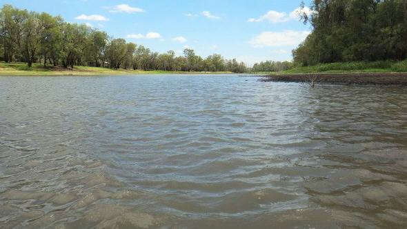 The Condamine River at Chinchilla Weir, close to the gas seep. Source: Charlotte Iverach.